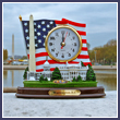 Washington DC Landmarks Clock