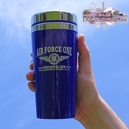 Blue Air Force One Travel Mug