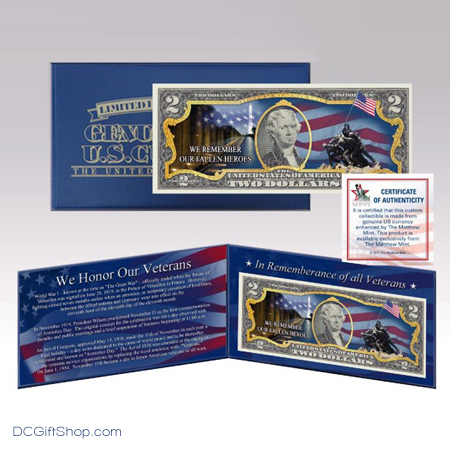Honor Veteran Commemorative Two Dollar Currency