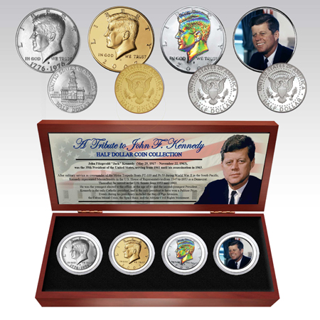 JFK Four Half-Dollar Commemorative Coin Set