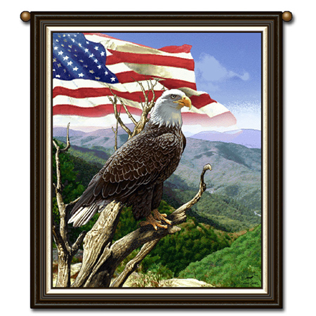 American Bald Eagle Freedom Tapestry