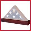 American Flag Case w/ Matching Pedestal Urn