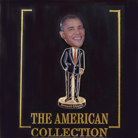 President Obama Bobble Head Pin