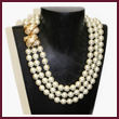 Barbara Bush Triple-Strand Pearl Necklace