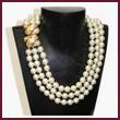 Barbara Bush Triple-Strand Pearl Necklace