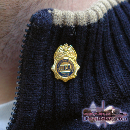 DEA Badge Lapel Pin