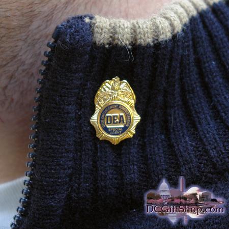 DEA Badge Lapel Pin