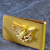 Gold Bald Eagle Money Clip