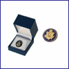 The Golden Seal Lapel Pin - Blue