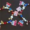 Laura Bush Stretch Elephant American Flag Bracelet