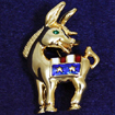 Democratic Donkey Pin