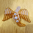 First Lady Pearl and Gold Dove Pin