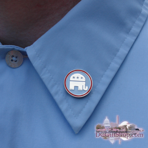 RNC Sliver/White Lapel Pin