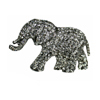 Elephant Crystal Brooch