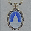 United States Capitol Blue Cameo with Pearl Necklace