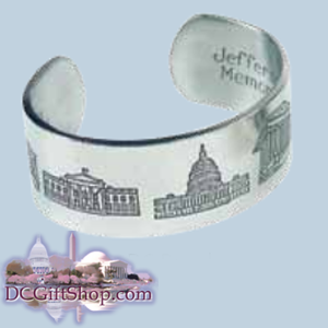Washington DC Pewter Bracelet