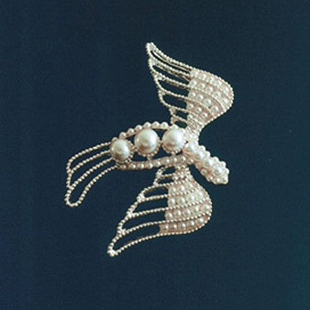 Washington Pearl Dove of Peace Pin