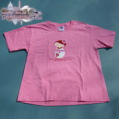 Kids Cherry Blossom Doll T-Shirt