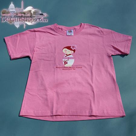 Kids Cherry Blossom Doll T-Shirt