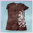 Ladies Fitted Cherry Blossom Branch Burnout T-Shirt