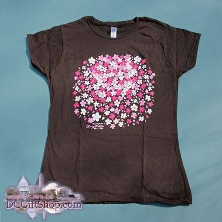 Ladies Cherry Blossom Petal Cluster T-Shirt