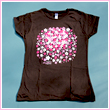 Ladies Cherry Blossom Petal Cluster T-Shirt