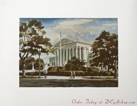 US Supreme Court West Front Print