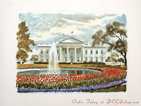 The White House in Springtime Print