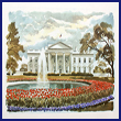 The White House in Springtime Print