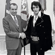 President Richard Nixon and Elvis Presley Print