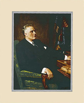 Franklin D. Roosevelt Framed Art Print