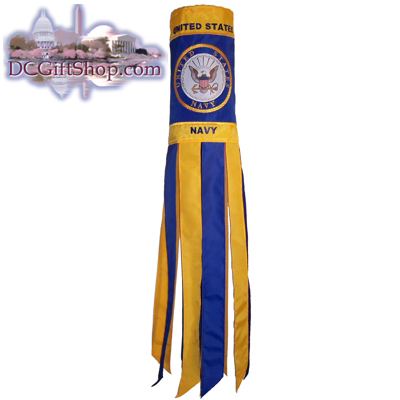 Navy Windsock - 40 Inch
