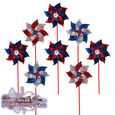 8 Piece Patriotic Pinwheels