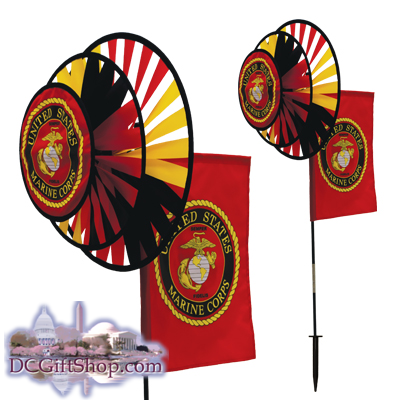 The US Marine Duel Spinner Wheels with Flag