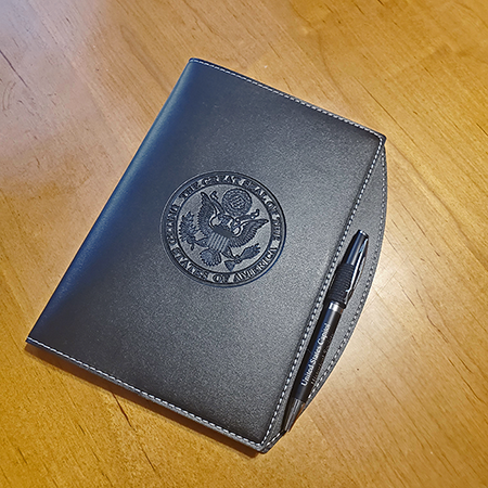 Black Great Seal Journal with Pen