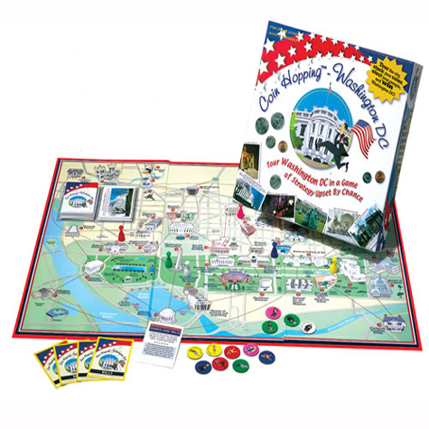 Coin Hopping - Washington DC Board Game