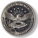 10th Anniversary United In Memory Lapel Pin