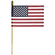 Official 12 inch x 18 inch US Grave Flag on 30 inch stick