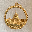 14k Reversible Washington D.C. in Disc Pendant
