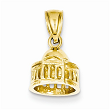 14k Solid Polished 3-Dimensional Jefferson Memorial Pendant