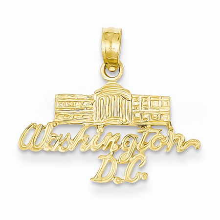 14k Washington D.C. White House Pendant