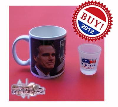 Vote Romney 2012 Coffee Cup and Shot Glass