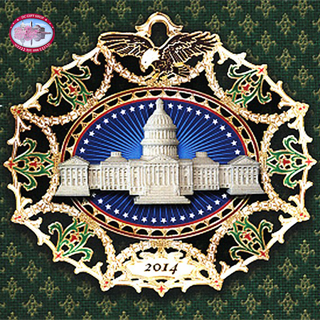 2014 Marble Classical Capitol Ornament