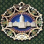 2014 Marble Classical Capitol Ornament