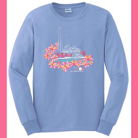 2017 Long Sleeve Cherry Blossom Tee Shirt