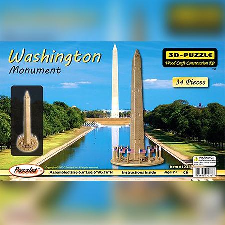 3-D Washington Monument Puzzle