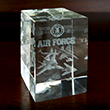 3D Air Force Glass Paperweight