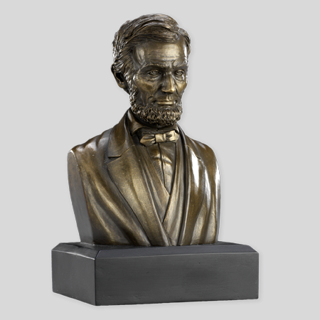 "Abraham Lincoln 6"" Bronze Bust"