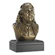 """Benjamin Franklin 6"""" Bronze Bust"""