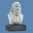 "Benjamin Franklin 6"" Marble Bust"